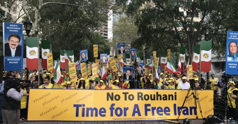 Manifestation d'Iraniens à New York
